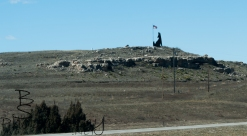 The welcome into Wyoming.
