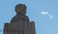 Abe starring at a cloud.