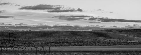 B/W mountains over I-80. SAID